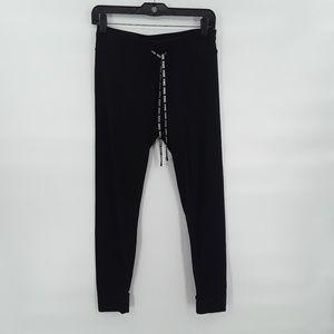 NWOT PINK light weight black sweat pants